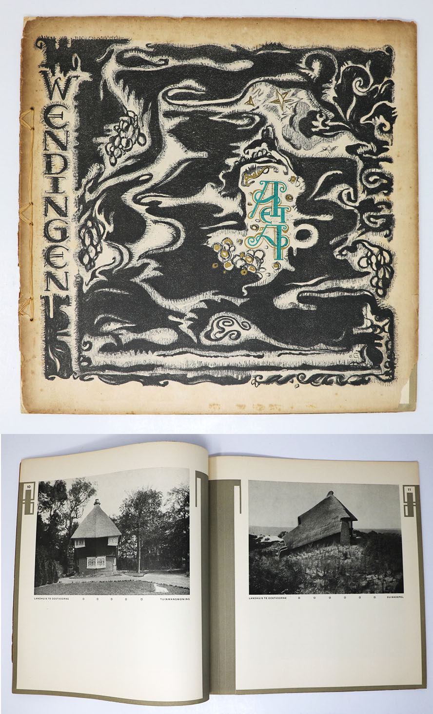 Wendingen :Series 4 1921 no.6: Drawings and photographs of a house in Oostvoorne