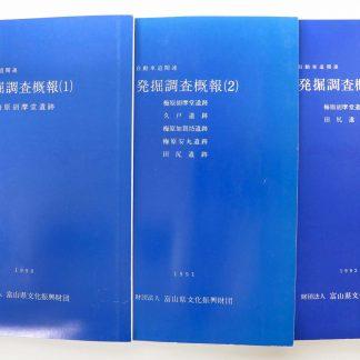 東海北陸自動車道関連発掘調査概報1〜3 3冊一括