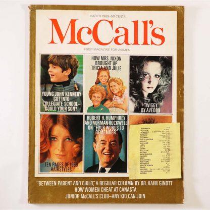 McCall's March 1969 マッコール