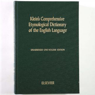 Klein's Comprehensive Etymological Dictionary of the English Language